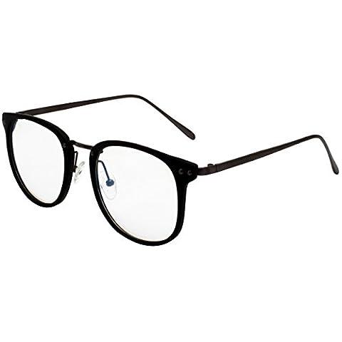 Blue Light Filter Clear Lens Eyeglasses Full Frame Optical Glasses Frame Computer Glasses GP2202A Matte - Eyeglasses Light Blue Frame
