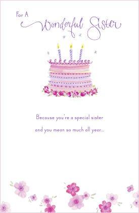 Hermana de la torta con velas - Tarjeta de felicitación de ...