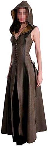 Disfraz Medieval de Mujer Vestido Vintage Adulto Marron Sexy sin ...