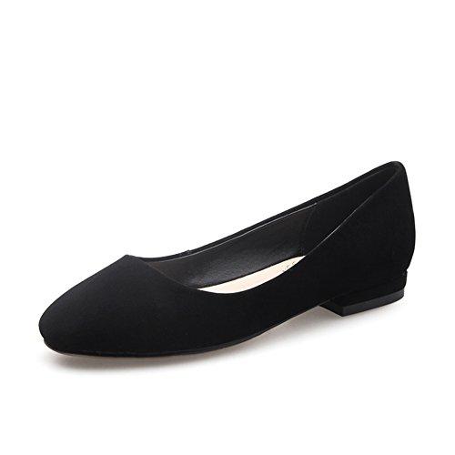 Versión coreana de la ronda plana/Ocio luz mujer/Zapatos de trabajo A