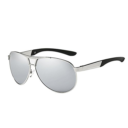 HDCRAFTER Classic Aviator Metal Frame Polarized Mirror Lens Sunglasses for - Blacked Men Out Sunglasses