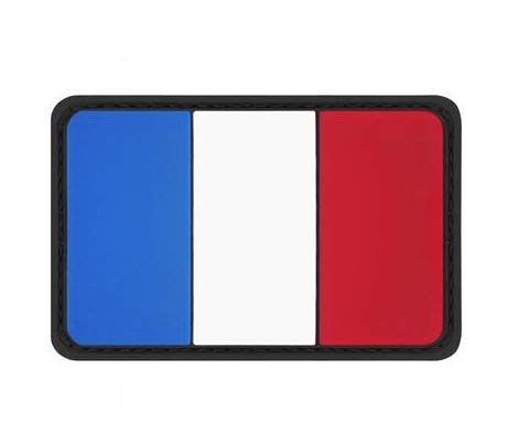 France Flag Military PVC Patch Rubber Badges Patch Tactical Stickers for Clothes Back with Hook