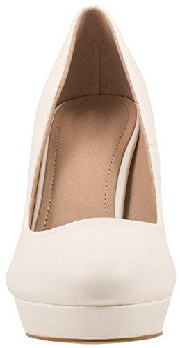 Elara alto tacco plateau Scarpe Bianco con donna moderna e rPrFq6