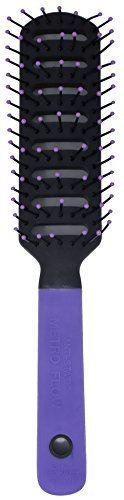 Spornette Anti Static Vent Brush #9000-MF Purple Styling, Smoothing, Straightening & Blow Drying Hair Quickly With No Static - Adds Shine & Body. For Women, Men & Children