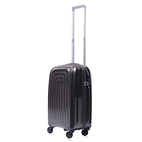 lojel-wave-polycarbonate-carry-on-upright-spinner-luggage-grey-one-size