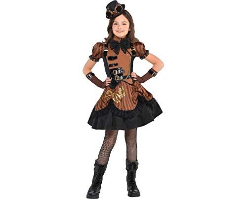 AMSCAN Steampunk Halloween Costume for Girls, Medium, with Included -