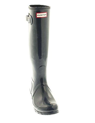 Hunter Original Tall Gloss - Botas para mujer - Navy (WFT1000RGL-NVY)