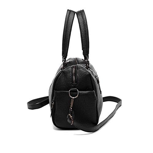 Black Sac Du Jtsyhdame Oblique Unique black Épaule Cuir Z0gxf8