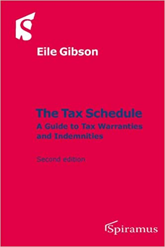 amazon the tax schedule a guide to tax warranties and indemnities