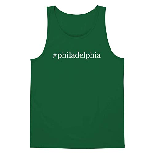 The Town Butler #Philadelphia - A Soft & Comfortable Hashtag Men's Tank Top, Green, XX-Large