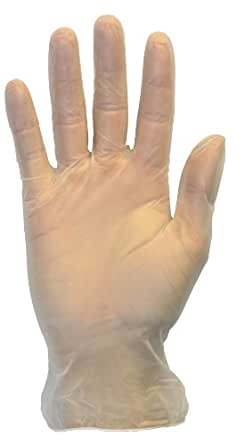 Disposable Vinyl Exam Gloves - Clear, Medical Grade, Powder Free, Latex Free, LabWork, Plastic, Food, Cleaning, Wholesale Cheap, Size Small (Box of 100)