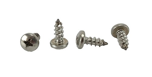#10 x 1/2 Stainless Phillips Pan Head Sheetmetal Screw (1/2 to 2 lengths in Listing) 100 Sheet Metal Screws (#10 x 1/2 inch)