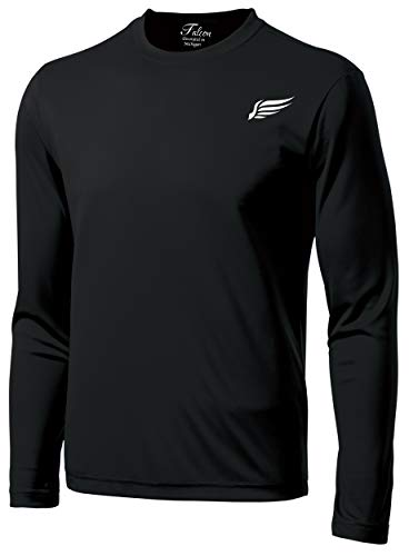 MI Falcon Men's Full Sleeve Top Performance T-Shirt Black Medium