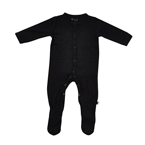 Red Sleeper - Kyte BABY Footies - Baby Footed Pajamas Made of Soft Organic Bamboo Material - 0-24 Months - Solid Colors (3-6 Months, Midnight)