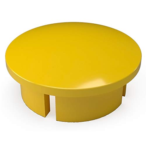 "FORMUFIT F012IDC-YE-10 PVC Internal Domed End Cap, Furniture Grade, 1/2"" Size, Yellow (Pack of 10) from FORMUFIT"