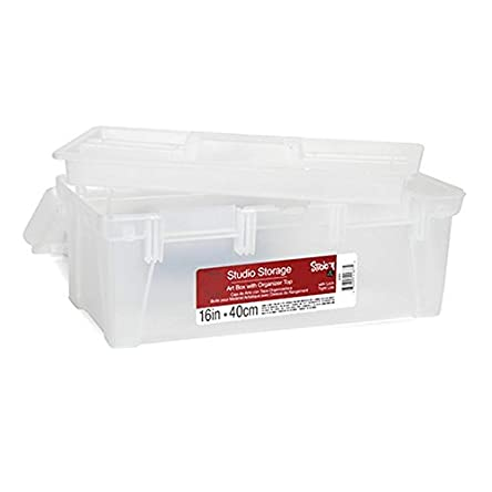Darice Toolbox with Built-in Organizer, 16-Inch
