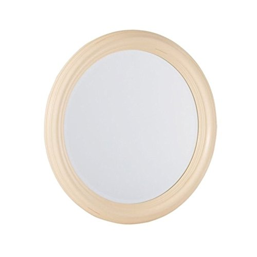 American Drew Camden Round Mirror in Buttermilk ()