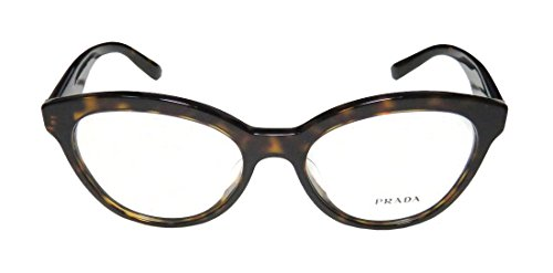 Prada Vpr11r-F Womens/Ladies Cat Eye Full-rim Eyeglasses/Glasses (52-17-140, Tortoise) - Prada Gold Tortoise Lens