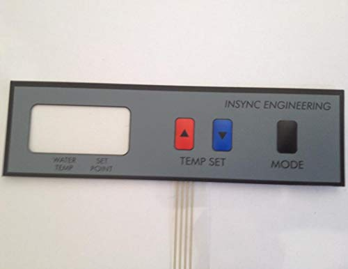 Replacement keypad NEW manufactured by INSYNC ENGINEERING that fits RAYPAK RP2100 HEATER