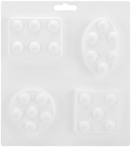 (Soapsations Soap Mold 8X9-4 Molds- Geometric Shapes W/Dots by Yaley)