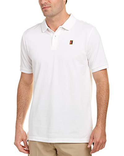Homme Blanc Noir Heritage Polo Nike Court 08zR0dq