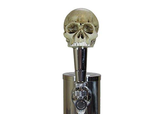 (Kool Collectibles No Jaw Skull Sports Bar Beer Tap Handle Kegerator Resin Zombie Breweriana Bar)