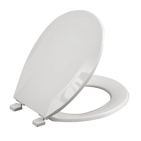 Outstanding Aquasource Round White Toilet Seat Tspli0142 Amazon Com Inzonedesignstudio Interior Chair Design Inzonedesignstudiocom