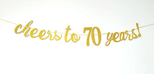 E&L Cheers to 70 Years Banner - Happy