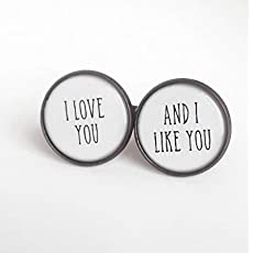Personalized Groom Cuff Links By Over the Moon Bridal Wedding Adventure Begins