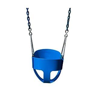 Gorilla Playsets Full Bucket Toddler Swing Color Blue