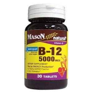 5000 Mcg Tablets Sublingual (Special of MASON NATURAL B-12 5000 MCG SUBLINGUAL TABLETS 30 per bottle by Mason Natural)