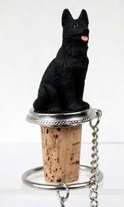 German Shepherd Bottle Stopper (Black) ()