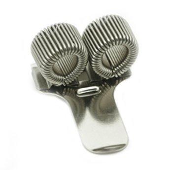 1 x double metal pen holder with pocket clip nurses pilots