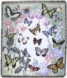 Butterfly Throw - Simply Home Butterflies are Free Tapestry Throw Blanket