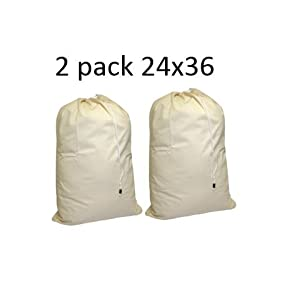 Cotton Laundry Bag, 2 Pack - 24