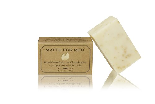 Matte For Men Hand Crafted Natural Cleansing Bar, 6-Ounce