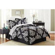 Better homes and gardens traditional medallion bed in a bag bedding set home kitchen for Better homes and gardens bed in a bag