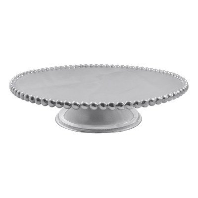 Mariposa Pearled Cake Stand (Silver Cake Basket)
