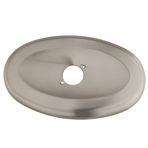 Kingston Brass KT138A8 Oval Shower Face Plate 13-Inch by 8-Inch, Satin Nickel (Oval Faceplate)