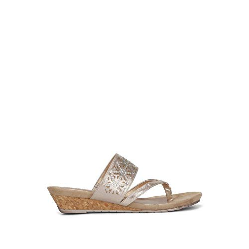 Reaction Kenneth Cole Great Chime Cork Wedge Sandal Rose Gold ()