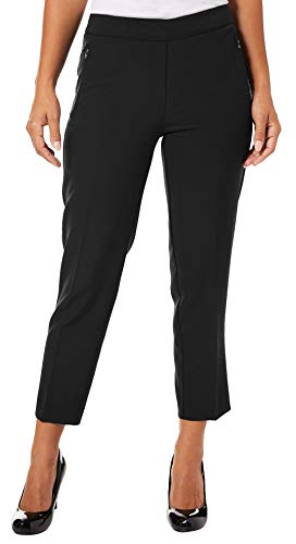 Zac & Rachel Petite Solid Zip Pocket Bond Ankle Pants for sale  Delivered anywhere in USA