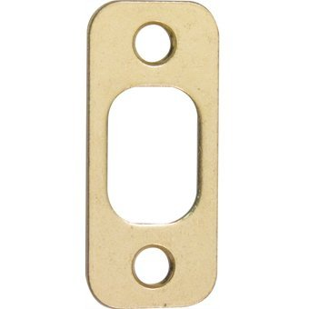 Polished Brass Strike Plate - @ Kwik 85063 Us3 Round Corner Strike For Deadbolt