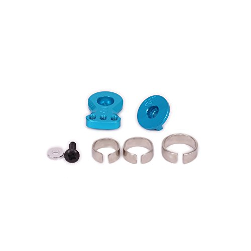 RCAWD Steering Servo Arm Horn Buffer 23T 24.4mm Long N10226 6061 Aluminum Alloy for RC Hobby Model Car Crawler Upgrade Parts(Blue)