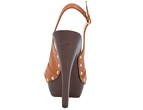 Sandals Shoes Heels Brown Women Platform MaxMuXun O0CUwnqBSx