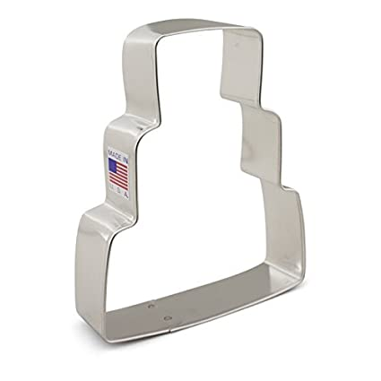 Ann Clark Wedding Cake Cookie Cutter   4.25 Inches   Tin Plated Steel