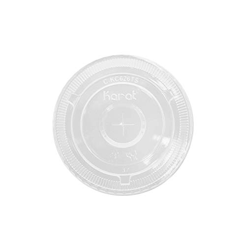 Karat C-KC626TSU 12-24 oz 98mm PET Flat Lids (Case of 1000)