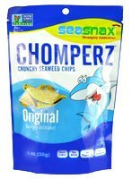 Seasnax Chomperz Crunchy Original Seaweed Chips, 1 Ounce - 8 per case.