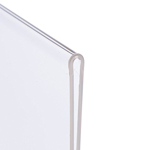Eagle Slant-Back Sign Holder, 8.5 X 11 Inches, Clear Acrylic, Side Insert, Pack of 4 by Eagle (Image #2)