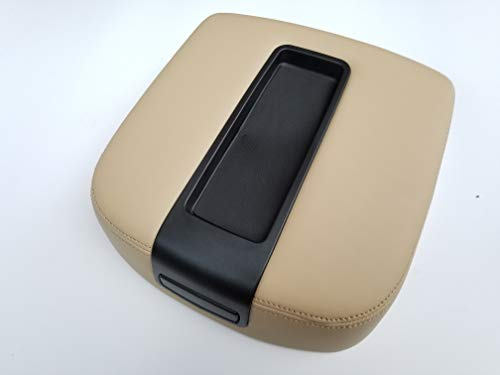 AutoPartClub Center Console Armrest Lid Cover for Tahoe, Suburban, Escalade 07-13 (Not just The Leather Part.The Whole armrest Cover is Included … (Beige) ()