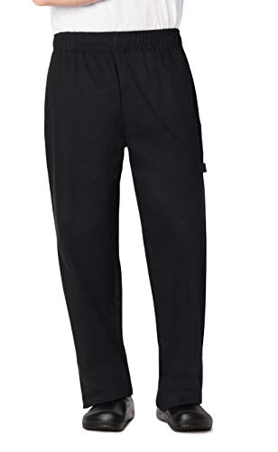 Dickies Chef Traditional Baggy Pant, Black, - Baggy Pants Chef New